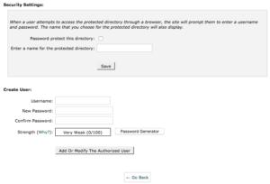 Password Protect WordPress Directory