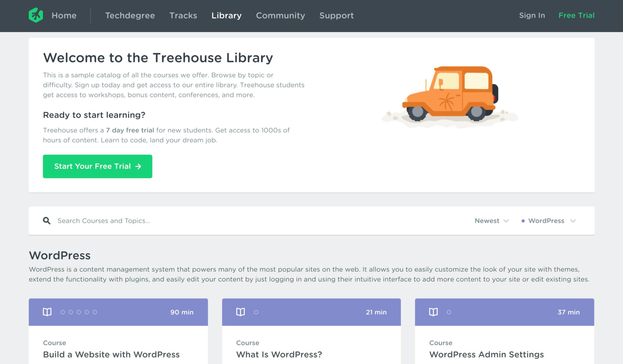 Treehouse WordPress Courses