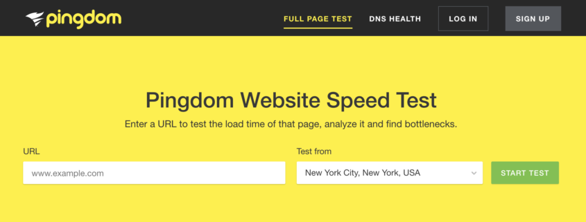Pingdom Speed Test